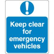 Mandatory Safety Sign - Keep Clear 090